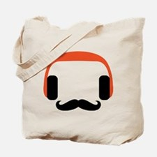 mustache_headphone Tote Bag