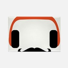 mustache_headphone Rectangle Magnet