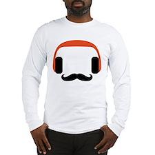 mustache_headphone Long Sleeve T-Shirt