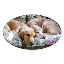 Two dogs snuggled together Decal