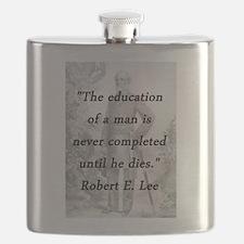 Robert E Lee - Education of a Man Flask