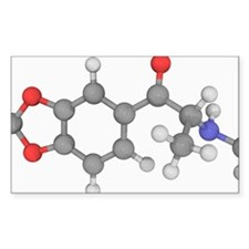 Methylone drug molecule Decal