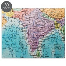 Global view of India Puzzle
