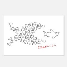 fish teamwork Postcards (Package of 8)