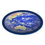 PLANET EARTH Oval Sticker