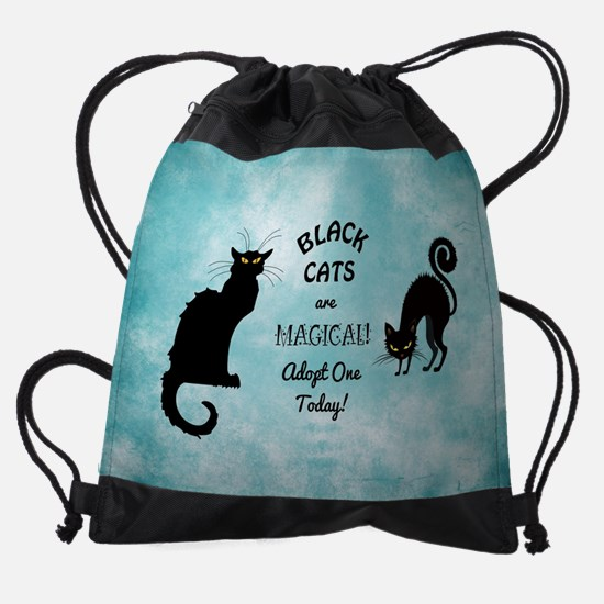BLACK CATS ARE... Drawstring Bag