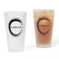 Karma, What goes around comes around Drinking Glas