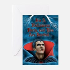 Dracula in Storm Greeting Cards (Pk of 10)