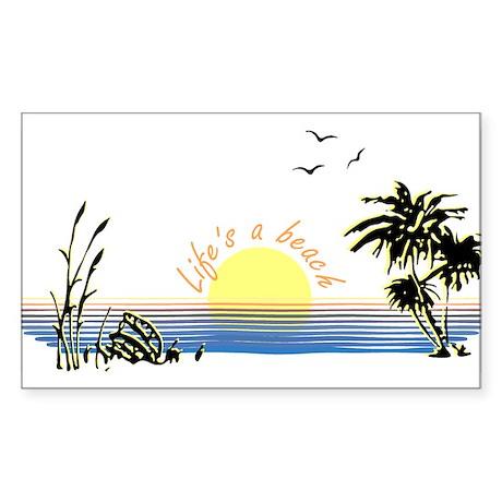 beach life Rectangle Sticker