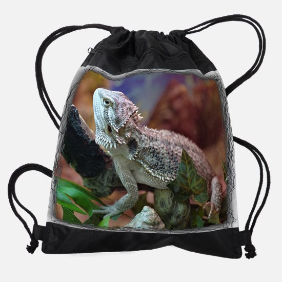 (13a)bearded_dragon.png Drawstring Bag