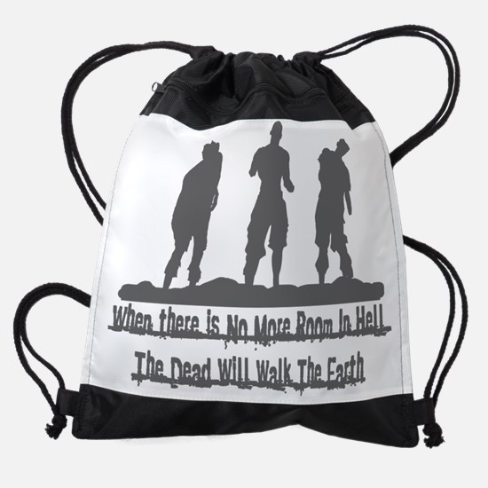 Zombie_gry.png Drawstring Bag