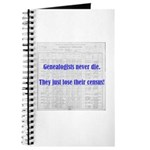 Genealogists Never Die Journal
