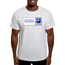 6th Battalion 502nd Infantry Ash Grey T-Shirt