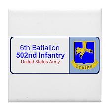 6th Battalion 502nd Infantry Tile Coaster