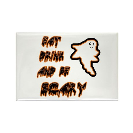 Scary Ghost Halloween Rectangle Magnet