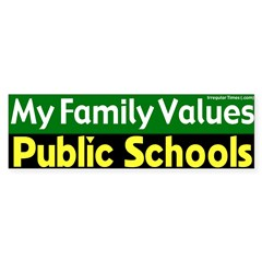 Value Public Schools Bumper Bumper Sticker