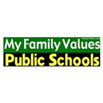 Value Public Schools Bumper Sticker