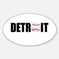 Detroit Baseball Oval Decal