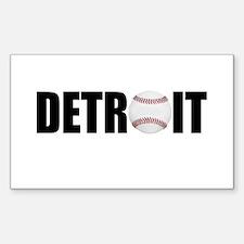 Detroit Baseball Rectangle Decal