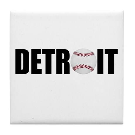 Detroit Baseball Tile Coaster