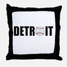 Detroit Baseball Throw Pillow