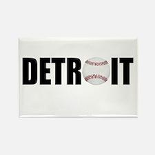 Detroit Baseball Rectangle Magnet