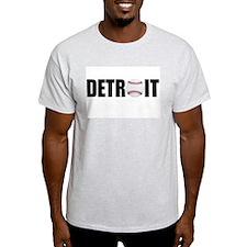 Detroit Baseball Ash Grey T-Shirt