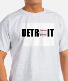 Detroit Baseball Ash Grey T-Shirt