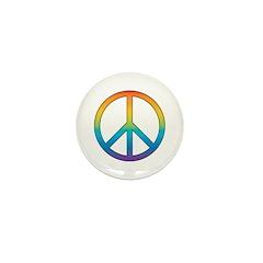 Rainbow Peace Mini Button (100 pack)
