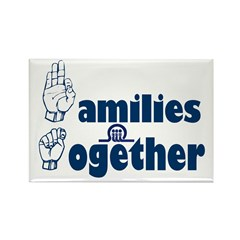 Families Together Rectangle Magnet (100 pack)