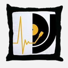 music_pulse_dj Throw Pillow