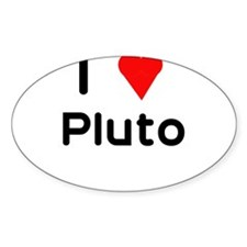 I heart Pluto Oval Decal