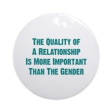 Quality Relationship Ornament (Round)