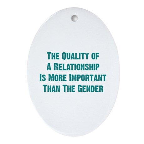 Quality Relationship Oval Ornament