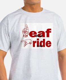 Deaf Pride Ash Grey T-Shirt