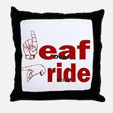 Deaf Pride Throw Pillow