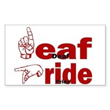 Deaf Pride Rectangle Bumper Stickers