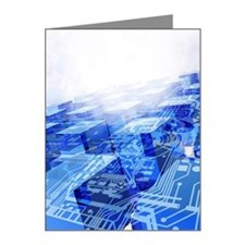 Cloud computing, conceptual  Note Cards (Pk of 10)