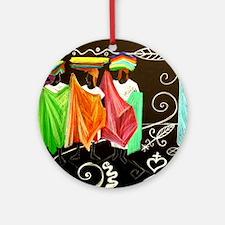 Market Haiti Art Ornament (Round)