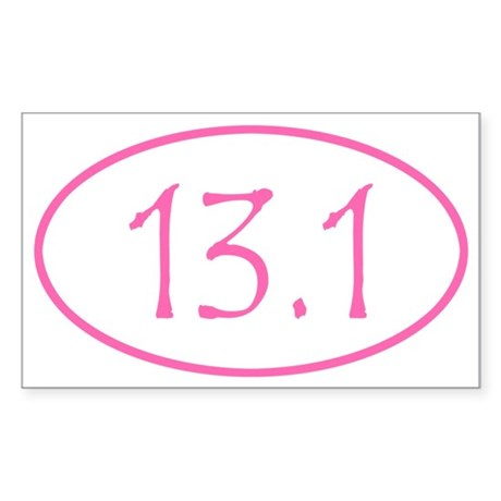 Pink Half Marathon 13.1 Mile Sticker