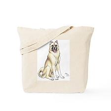 Tan Akita Tote Bag