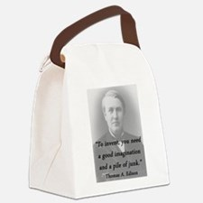 Edison - To Invent Canvas Lunch Bag