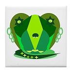 Green Dog Tile Coaster