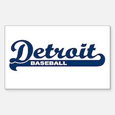 Detroit Baseball Script Rectangle Decal