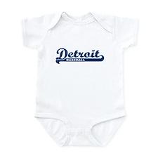 Detroit Baseball Script Infant Bodysuit