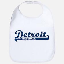 Detroit Baseball Script Bib