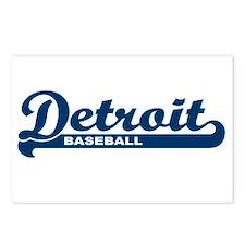Detroit Baseball Script Postcards (Package of 8)