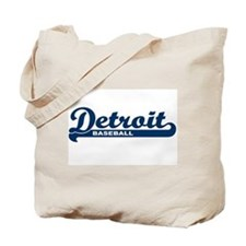 Detroit Baseball Script Tote Bag
