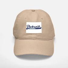 Detroit Baseball Script Baseball Baseball Cap