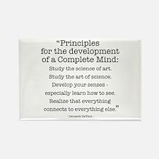 Principles by Leonardo Da Vinci Rectangle Magnet